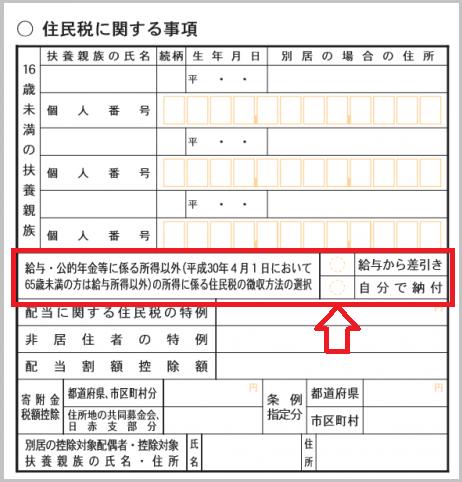 住民税の普通徴収
